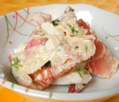 北寄貝のサラダ