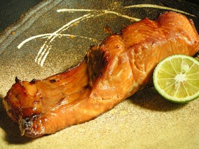 秋鮭の醤油漬け