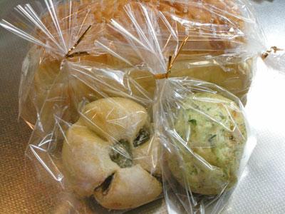うぐいす豆パンとよもぎアンパン