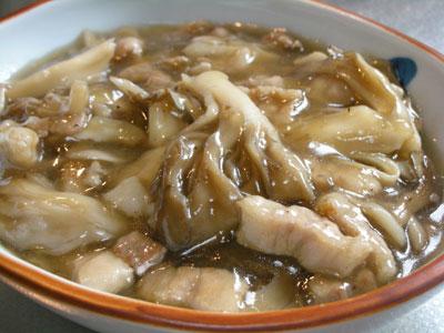 舞茸と豚肉のあんかけ