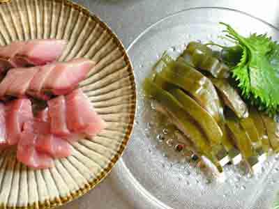 手巻き寿司のネタ
