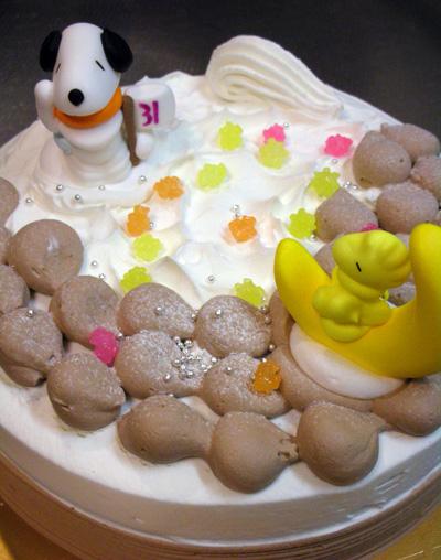 アイスクリームのクリスマスケーキ