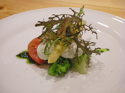 モッツァレラと野菜のサラダ