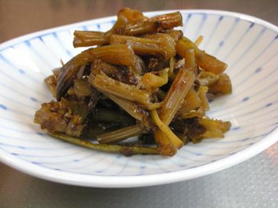 京ぶきで作ったキャラブキの佃煮