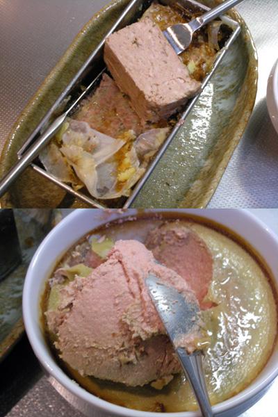 鶏レバームースと豚肉のパテ