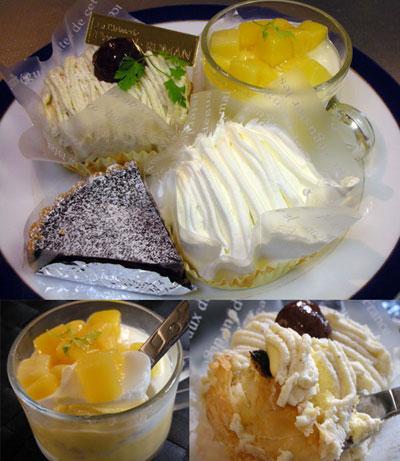 「ろまん亭」のケーキ