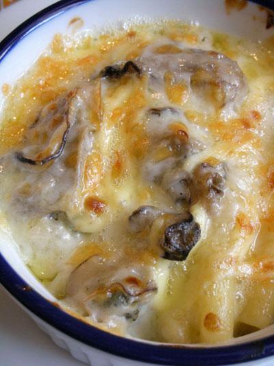 牡蠣とマカロニのグラタン