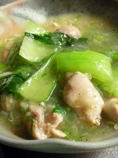中華風鶏モモ肉とチンゲンサイのとろみ煮
