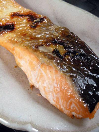 本日の朝食惣菜は時鮭