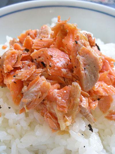 紅鮭かま丼