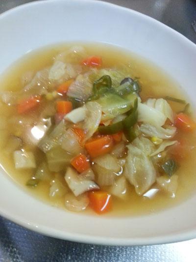 野菜スープと洋風おじや