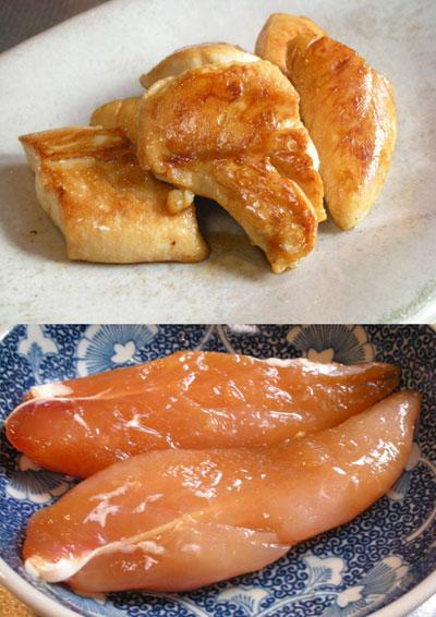 鶏ささみ醤油麹漬け