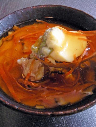 鶏肉とそら豆の茶碗蒸し