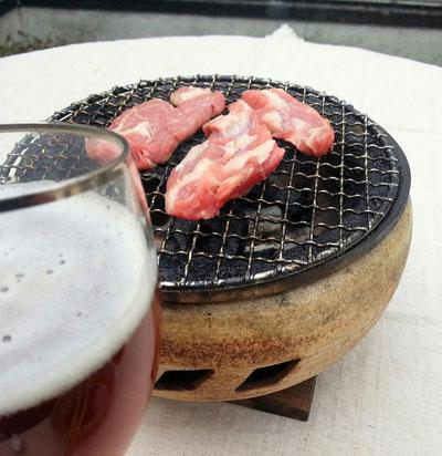 生ラム炭火焼