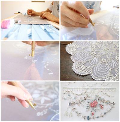 フランスオートクチュール刺繍 イギリス伝統刺繍