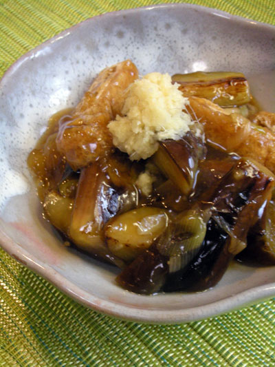 茄子と油揚げの甘辛とろとろ炒め煮