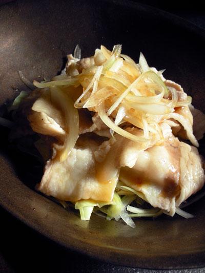 豚バラ肉とキャベツの中華風サラダ