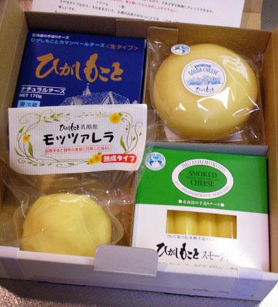 チーズの詰め合わせ