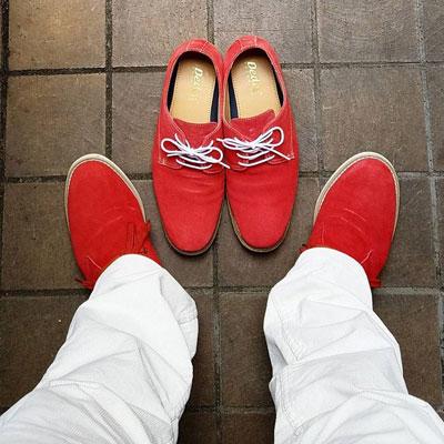 お気に入りの赤い靴