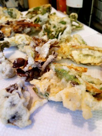 山菜&キノコの天ぷら