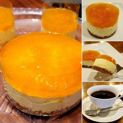 """""""ゴールデンベリー(食用ほおずき)のチーズケーキ"""""""