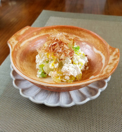 白菜の白和えゴマ風味