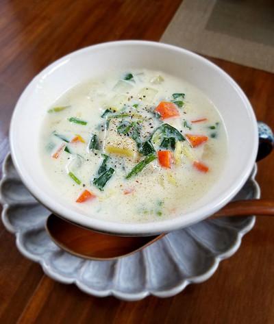 豆腐と野菜のクリームスープ