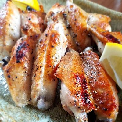 鶏手羽中塩焼き