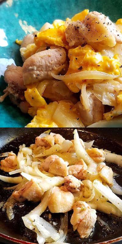 鶏モモ肉とたまごの塩麹炒め