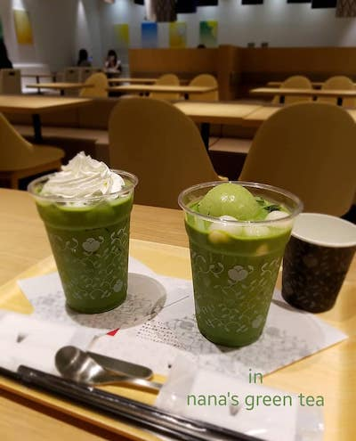 nana's green tea in PARCO